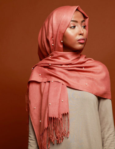 Orange Mouza Hijab