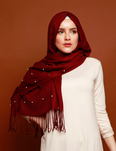 Wine Red Mouza Hijab