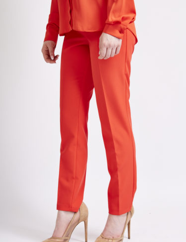 Red cigarette trousers