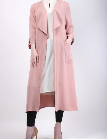 Dusty Pink Waterfall Coat