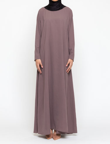Rose Taupe Plain Customised Abaya