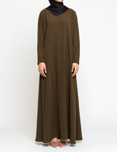 Olive Plain Customised Abaya
