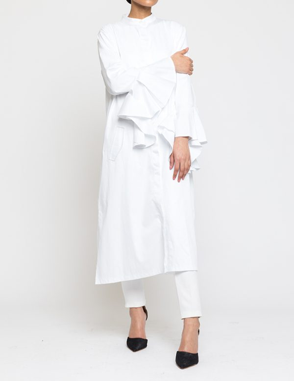Shirtdress with Flared  Sleeves