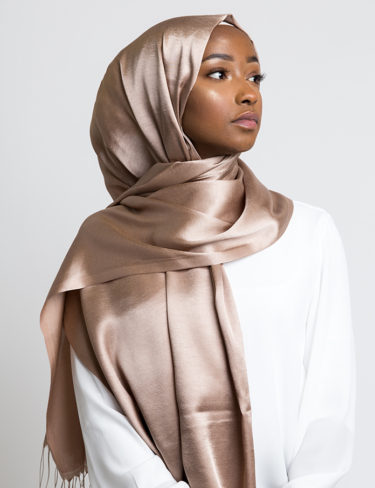 Copper Soft Satin Silk Hijab