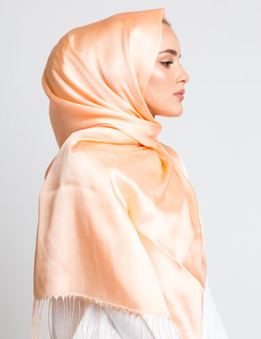 Persian Melon Soft Satin Silk Hijab