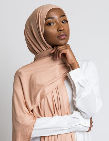 Burnt Almond Jersey Hijab