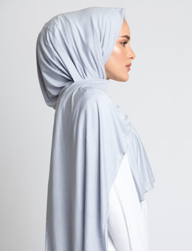 Cloudy Grey Jersey Hijab
