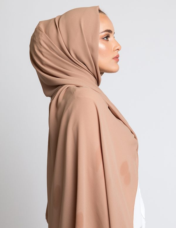 Latte Luxury Crepe Hijab