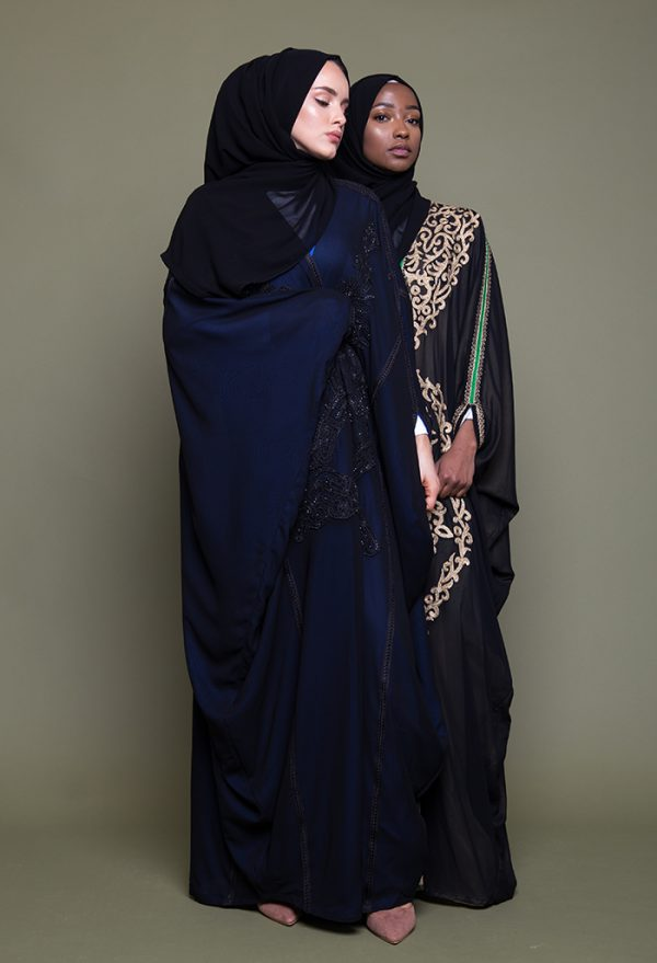 Gold Embroidered Bisht/Cape Open Abaya
