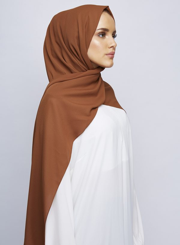 Burnt Sienna Luxury Crepe Hijab