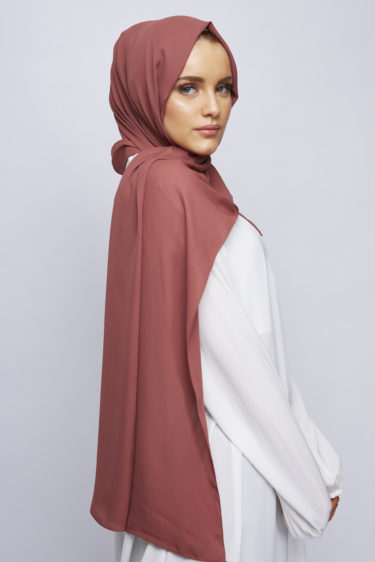 Sunset Peach Luxury Crepe Hijab