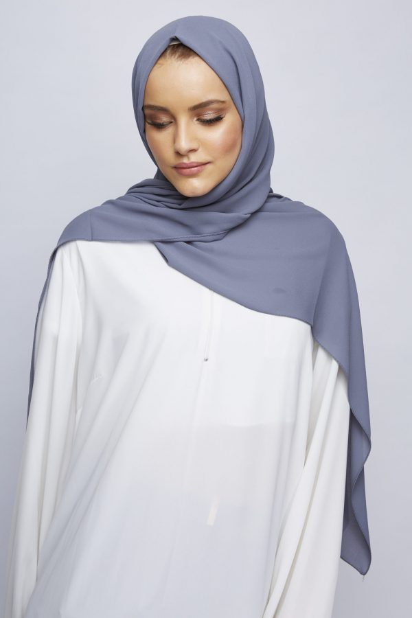 Pigeon Grey Luxury Crepe Hijab