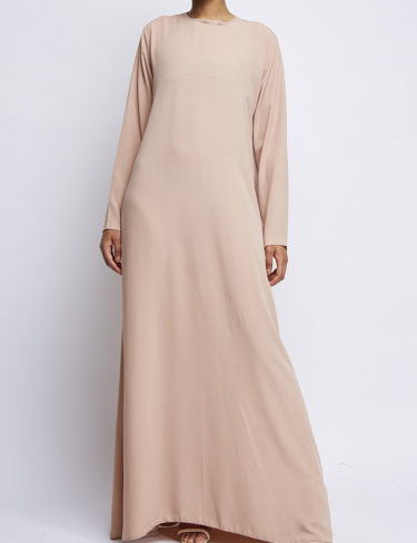 Natural Beige Plain Customised Abaya