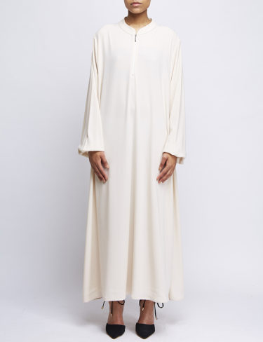 Cream Loose Ben Harad Casual Abaya