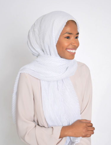 White Powder Wave Hijabs