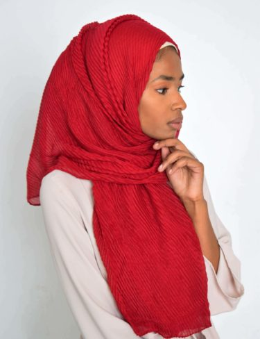 Raspberry Red Wave Hijab