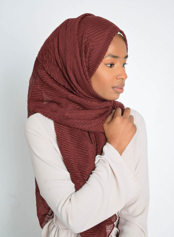 Burgundy Wave Hijab