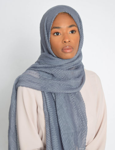 Gray Wave Hijab