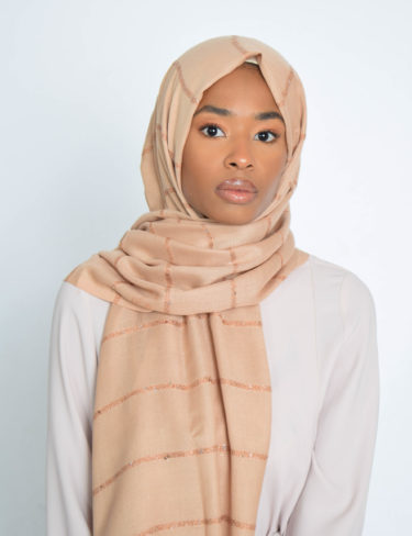 Gold Sequin Hijab