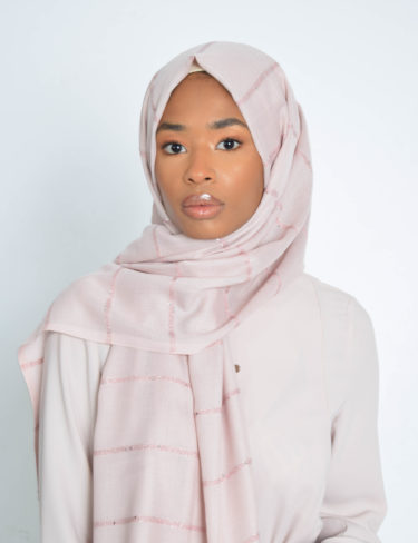 Carnation Pale Pink Sequin Hijab
