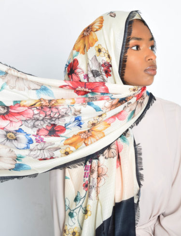 Daisy Colourful Print Hijab