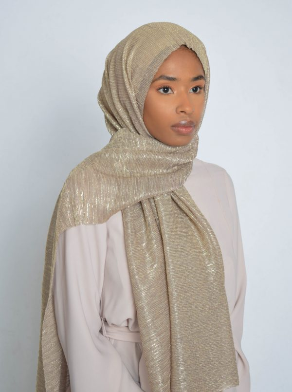 French Gold Shimmer Hijab