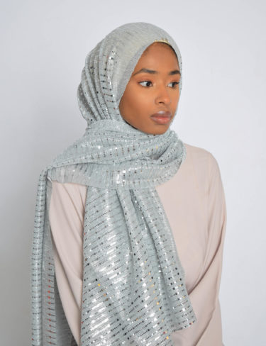 Silver Shimmer Sequin Hijab