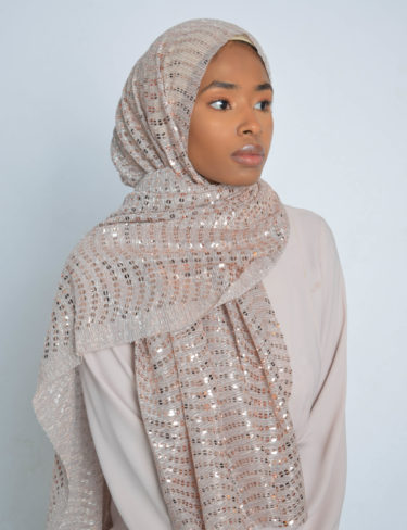 Rose Gold Shimmer Sequin Hijab