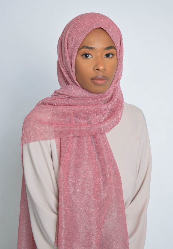 Dusty Pink Shimmer Hijab