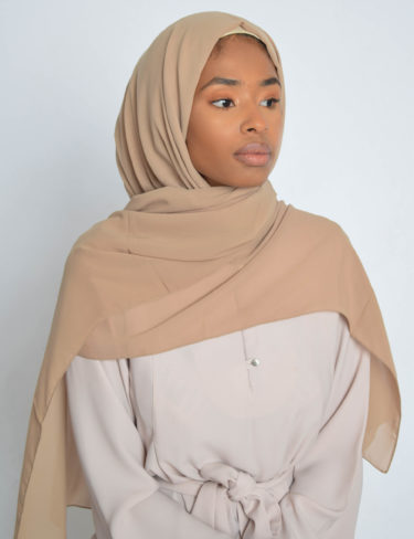 Natural Sand Luxury Chiffon Hijab