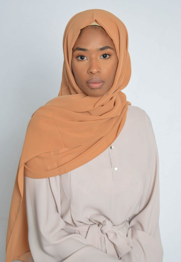 Powder Peach Luxury Chiffon Hijab