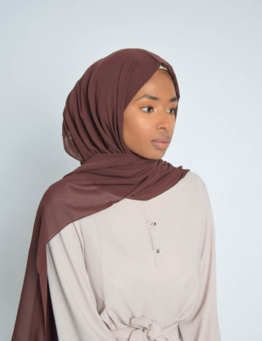 Crimson Brown Luxury Chiffon Hijab