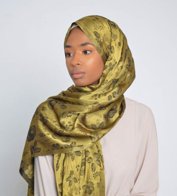 Yellow Gold floral print