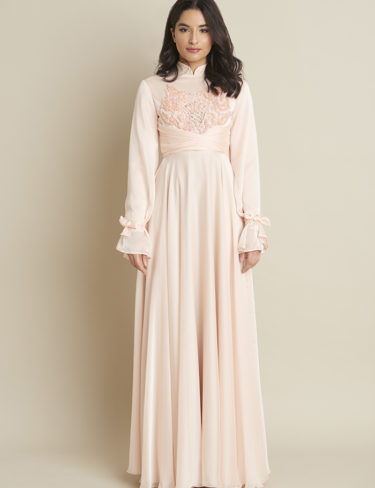Gorgeous Soft Flowy Peach Dress