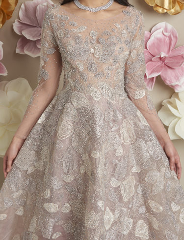 Blush Nude Melissa Luxury Dress