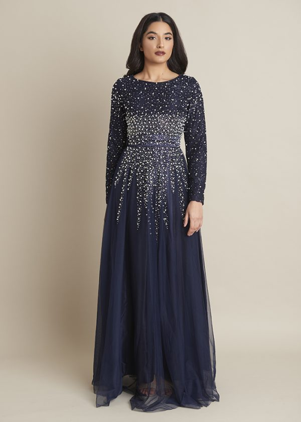 Lula Emerald Pearl and Lace Modest Dress