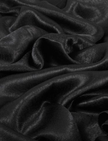 Black Luxurious Bamboo Satin Hijab