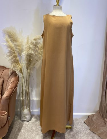 Rust Gold Slip Dress