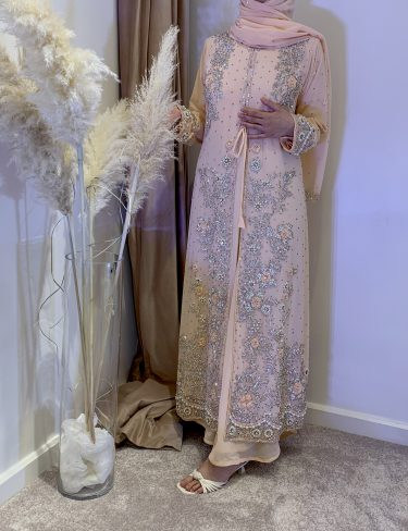 Swarovski Peach Luxury Kaftans