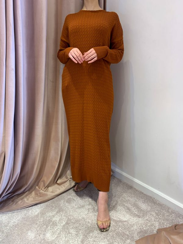 Burnt Orange Jumper Dress