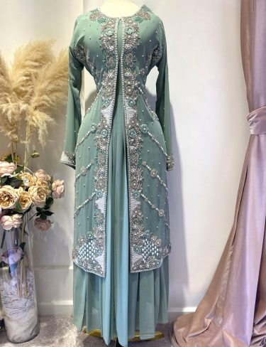 Swarovski Rich Tiffany Blue Luxury Kaftans