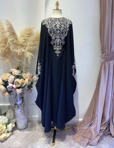 Swarovski Black Butterfly Luxury Kaftans